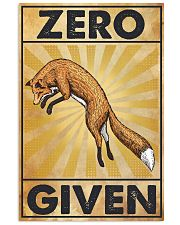 Zero Fox Given 11x17 Poster front