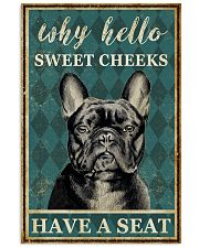 FRENCH BULLDOG WHY HELLO SWEET CHEEKS 11x17 Poster front