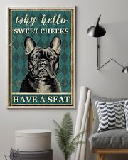 FRENCH BULLDOG WHY HELLO SWEET CHEEKS 11x17 Poster lifestyle-poster-1