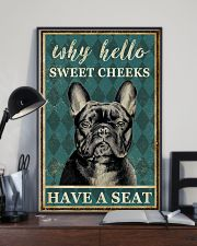 FRENCH BULLDOG WHY HELLO SWEET CHEEKS 11x17 Poster lifestyle-poster-2