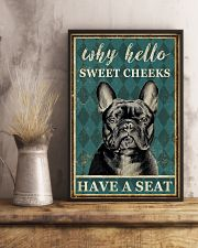 FRENCH BULLDOG WHY HELLO SWEET CHEEKS 11x17 Poster lifestyle-poster-3
