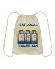 Canning I Eat Local Drawstring Bag tile