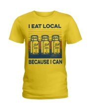 Canning I Eat Local Ladies T-Shirt tile