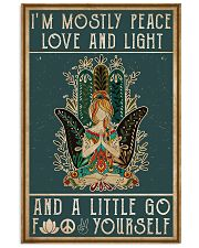 Yoga I'm Mostly Peace Love 11x17 Poster front