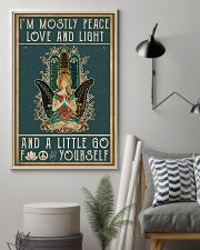 Yoga I'm Mostly Peace Love 11x17 Poster lifestyle-poster-1
