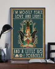 Yoga I'm Mostly Peace Love 11x17 Poster lifestyle-poster-2