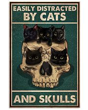 Cat Easily Distracted By Cats And Skulls 16x24 Poster front