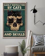 Cat Easily Distracted By Cats And Skulls 16x24 Poster lifestyle-poster-1