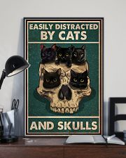 Cat Easily Distracted By Cats And Skulls 16x24 Poster lifestyle-poster-2