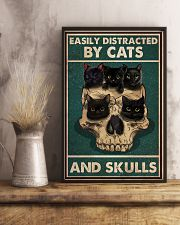 Cat Easily Distracted By Cats And Skulls 16x24 Poster lifestyle-poster-3