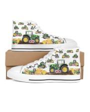 Tracktor Shoe Women's High Top White Shoes tile