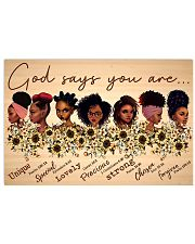 Black God Says You Are 17x11 Poster front
