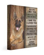 German Shepherd Before I Met You 11x14 Gallery Wrapped Canvas Prints front