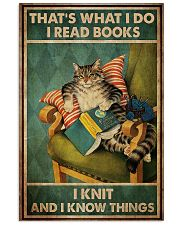 Cat That's What I Do I Read Books 16x24 Poster front