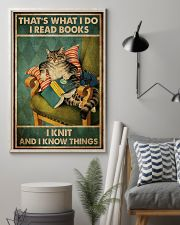 Cat That's What I Do I Read Books 16x24 Poster lifestyle-poster-1