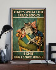 Cat That's What I Do I Read Books 16x24 Poster lifestyle-poster-2