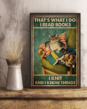 Cat That's What I Do I Read Books 16x24 Poster lifestyle-poster-3