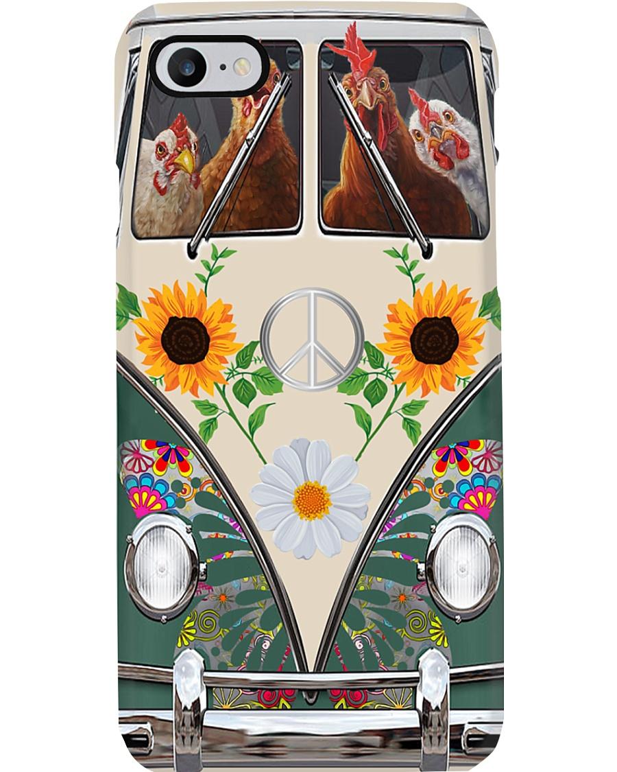Chicken Peace Sunflower  Phone Case
