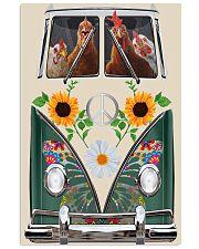 Chicken Peace Sunflower  11x17 Poster thumbnail