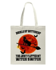 Cat Buckle Up Buttercup You Just Flipped Tote Bag tile