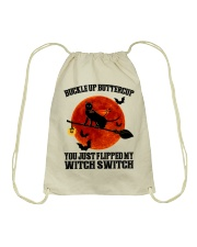 Cat Buckle Up Buttercup You Just Flipped Drawstring Bag tile