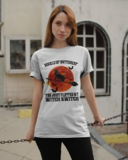Cat Buckle Up Buttercup You Just Flipped Classic T-Shirt apparel-classic-tshirt-lifestyle-19