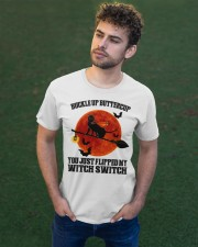 Cat Buckle Up Buttercup You Just Flipped Classic T-Shirt apparel-classic-tshirt-lifestyle-front-43