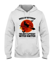 Cat Buckle Up Buttercup You Just Flipped Hooded Sweatshirt tile