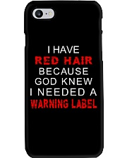 Redhair God knew I Needed A Warning Phone Case tile