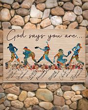 Softball God Says You Are 17x11 Poster poster-landscape-17x11-lifestyle-15