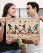 Softball God Says You Are 17x11 Poster poster-landscape-17x11-lifestyle-20
