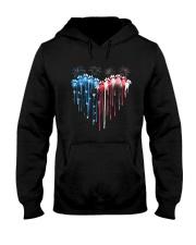 Dog Heart Flag Hooded Sweatshirt tile