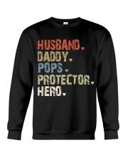 Father Hero Protector Hero Crewneck Sweatshirt tile