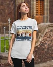 Chicken Driving My Husband Classic T-Shirt apparel-classic-tshirt-lifestyle-06