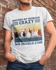 Chicken Driving My Husband Classic T-Shirt apparel-classic-tshirt-lifestyle-26