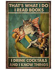 Cat I Drink Cocktails 16x24 Poster front
