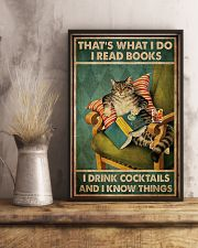 Cat I Drink Cocktails 16x24 Poster lifestyle-poster-3