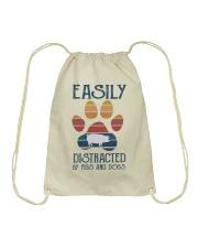 Pigs Easily Distracted Drawstring Bag tile