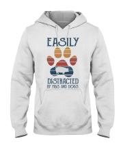 Pigs Easily Distracted Hooded Sweatshirt tile
