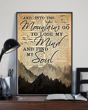 Hiking And Into The Mountain Poster 11x17 Poster lifestyle-poster-2