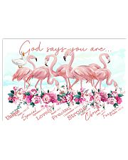 Flamingo God Says You Are 24x16 Poster front