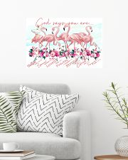 Flamingo God Says You Are 24x16 Poster poster-landscape-24x16-lifestyle-01