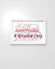 Flamingo God Says You Are 24x16 Poster poster-landscape-24x16-lifestyle-02
