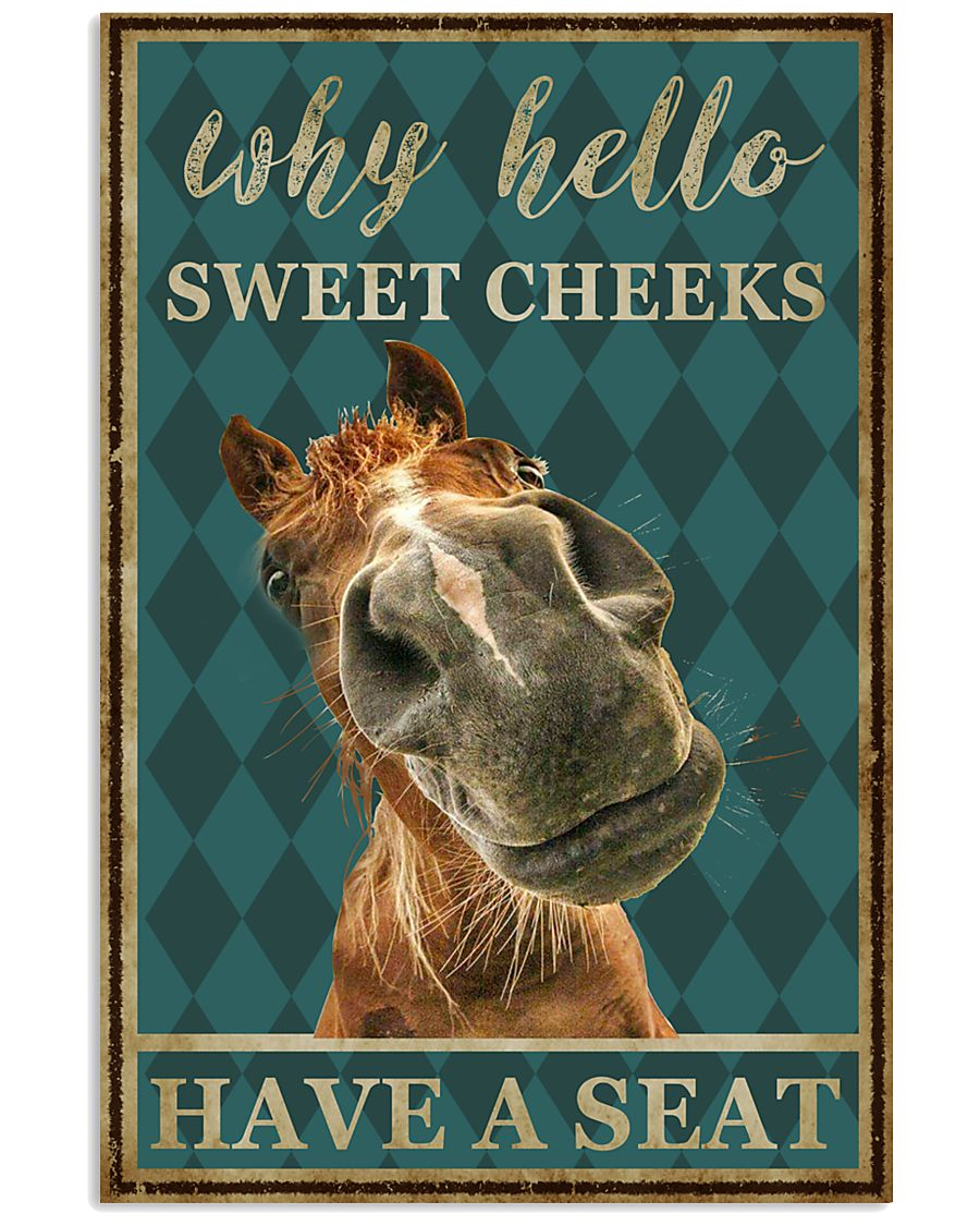 Horse Why Hello Sweet Cheeks 11x17 Poster