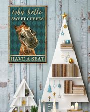 Horse Why Hello Sweet Cheeks 11x17 Poster lifestyle-holiday-poster-2