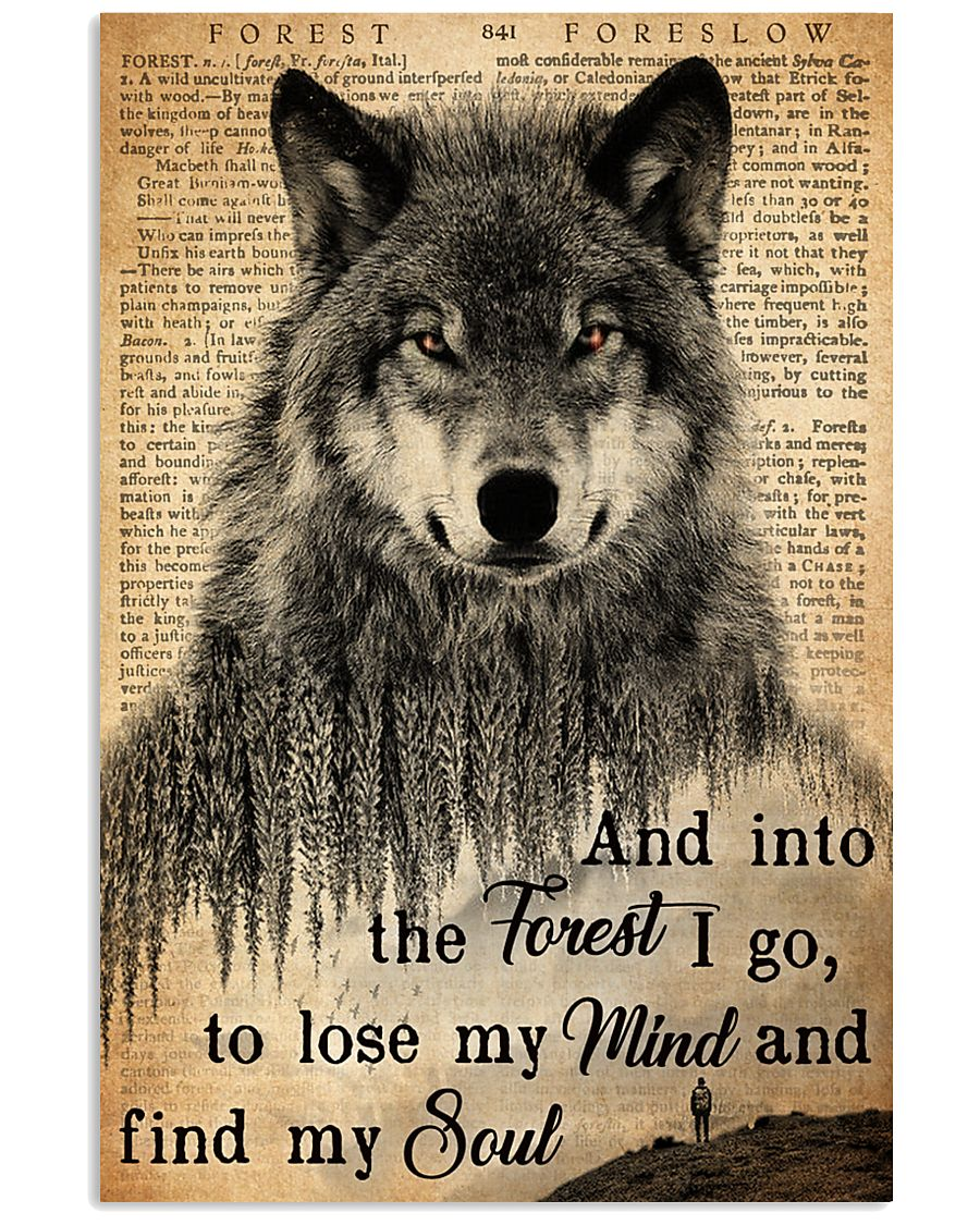 Hiking And Into The Forest I Go Wolf Wildlife 11x17 Poster