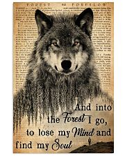 Hiking And Into The Forest I Go Wolf Wildlife 11x17 Poster front