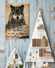 Hiking And Into The Forest I Go Wolf Wildlife 11x17 Poster lifestyle-holiday-poster-2