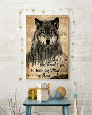 Hiking And Into The Forest I Go Wolf Wildlife 11x17 Poster lifestyle-holiday-poster-3