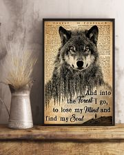 Hiking And Into The Forest I Go Wolf Wildlife 11x17 Poster lifestyle-poster-3